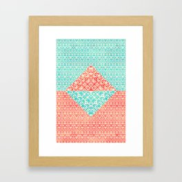 Retro Optical Fantasia Framed Art Print