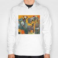 elephants Hoodies featuring Elephants by Jonas Ericson