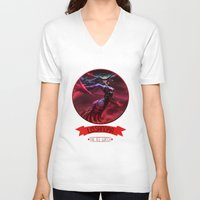 league of legends V-neck T-shirts featuring League Of Legends - Lissandra by TheDrawingDuo
