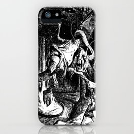 Jabberwocky Illustration from Alice in Wonderland Transparent Background iPhone Case