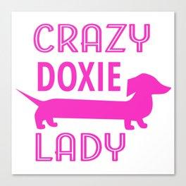 Crazy Dachshund Lady Canvas Print