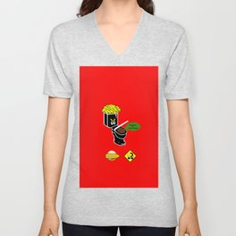 Dump in Toilets with Dirty Suites Unisex V-Neck