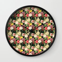 Vintage Floral Pattern | No. 1A Wall Clock