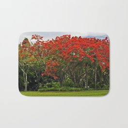 Royal Poinciana Tree Bath Mat