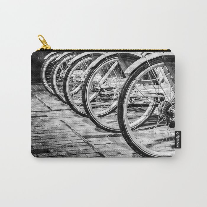 Bike / Black and White / Photography Carry-All Pouch