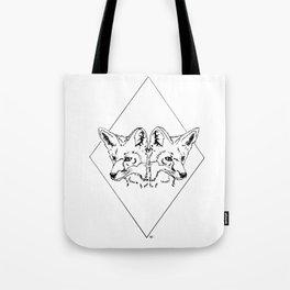 Fox Twins (white) Tote Bag