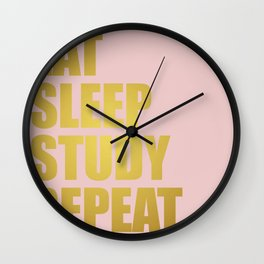 Dorm Goals Wall Clock