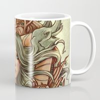 elephants Mugs featuring Elephants by Heather Hitchman