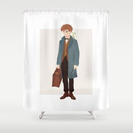 Newt Scamander Shower Curtain