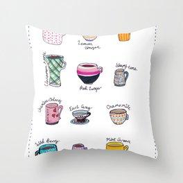 United States of Tea Throw Pillow