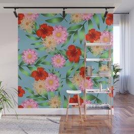 Floral pattern print Wall Mural
