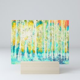 Sherwood Pines Abstract Art Mini Art Print