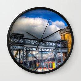 Tobbaco Dock London Wall Clock