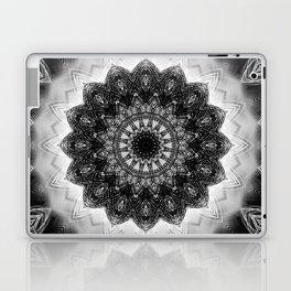 Black and White detailed Mandala design Laptop & iPad Skin