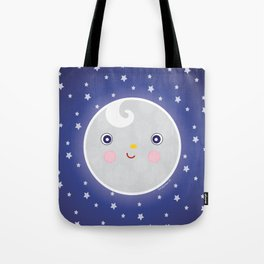 Happy Moon Man Tote Bag