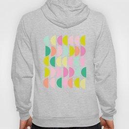 Bright Pastel Geometric Shapes Pattern 107 Hoody