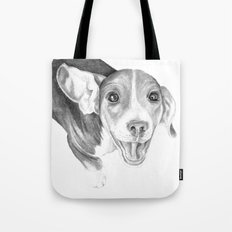 A Story To Tell :: A Beagle Puppy Tote Bag