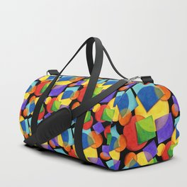 Candy Rainbow Geometric Duffle Bag