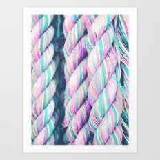 Candy Ropes Art Print