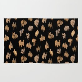 Strokes of brown paint Rug