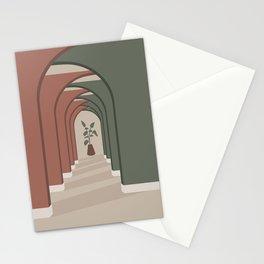 Mid Century Magic 94 Fantasy Architecture Arches Interior Design Potted Plant Infinity Parallax Mid Century Minimalist Interior Design Stationery Cards