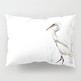 Mr Kotuku , New Zealand White Heron Pillow Sham