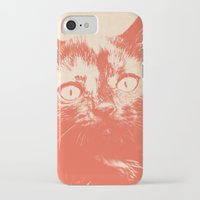 kitten iPhone & iPod Cases featuring KITTEN by Allyson Johnson