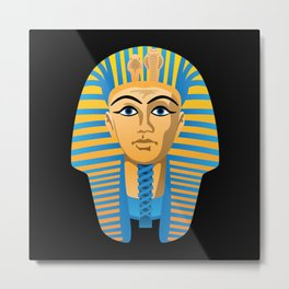 Egyptian Golden Pharaoh Burial Mask Metal Print