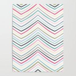 Eve Modern Multicolor Stripe Poster