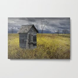Rural Outhouse langishing in the Countryside Metal Print
