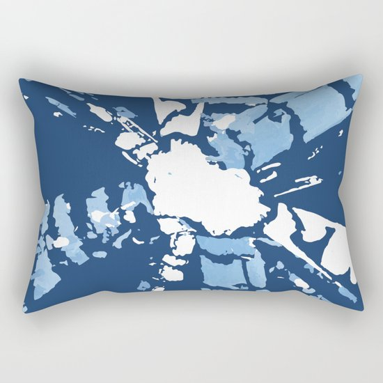 Blue Shibori tie-dye Rectangular Pillow