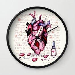 Wild Horses Broken Heart Wall Clock