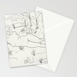 Naked in the Woods Stationery Cards