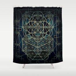 Quantum Conexion Shower Curtain
