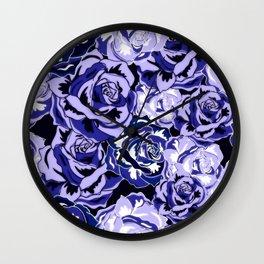 Beautiful Violet Roses Wall Clock