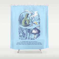 Alice and the Caterpillar Shower Curtain