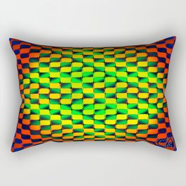 Optic Vibrations Psychedelic Waving Optical Illusion Rectangular Pillow