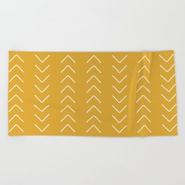 V / Yellow Beach Towel