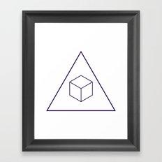 Delta Cubes Framed Art Print
