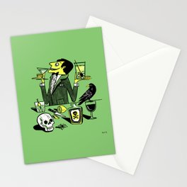 Drinks With The Mad Scientist Next Door Stationery Cards