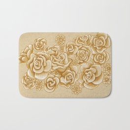 Golden Roses Bath Mat