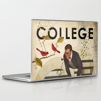 college Laptop & iPad Skins featuring Welcome to... College by Heather Landis