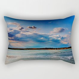 Leaving Harwich, peaceful seascape with dramatic god-rays Rectangular Pillow