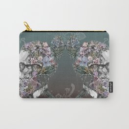 hipster floral skull 3 Carry-All Pouch