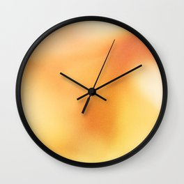 Abstract noise orange Wall Clock