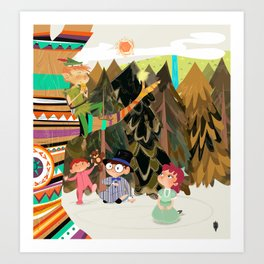 An Afternoon In Neverland Art Print