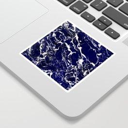 Modern Navy blue watercolor marble pattern Sticker