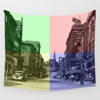maryland Wall Tapestries featuring Baltimore St., Cumberland, Md. by Ron Trickett (Rockett Graphics)
