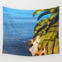 san diego Wall Tapestries featuring San Diego Overlook by Tdrisk46