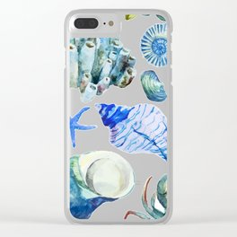 Sea Life Pattern 05 Clear iPhone Case